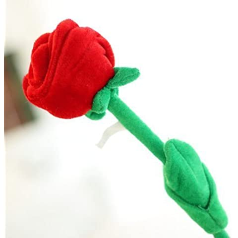 Cute Plush Aritficial Roses Bendable Roses For Valentines Day--12 per order by LAVA_STORE