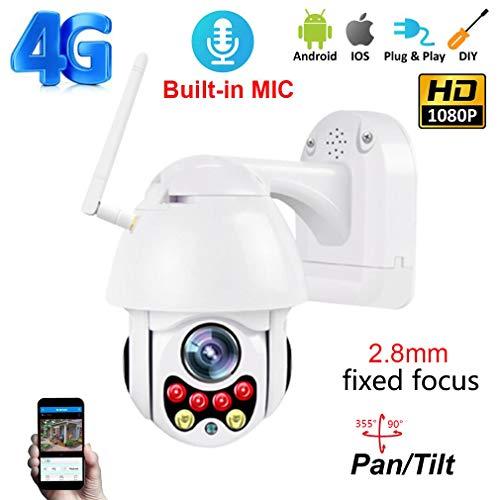 CDF65 4G 5 Millionen Pixel 2,8 mm Fokussierung mit HD-Sound-Webcam IP66 im Freien wasserdichte 4G-Fernüberwachungskamera mit 35M Nachtsicht,FixedFocus+64GB - 4g Webcam