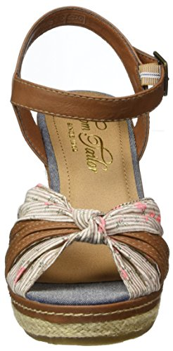 TOM TAILOR Damen 2790801 Riemchensandalen Braun (Mud)