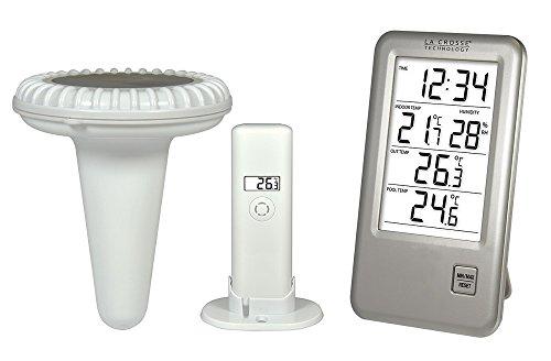 La Crosse Technology WS9068 Station de température avec sonde pour piscine - Argent thumbnail
