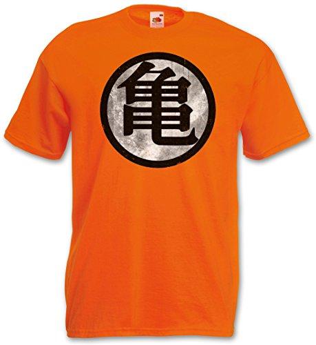 ORANGE SON GOKU VINTAGE T-SHIRT - Dragonball Z King Turtle Hermit Kai's Kanji Kaio Muten Kame Houese Kamehameha Roshi Tamaños S - 3XL