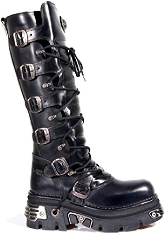 New Rock Hombres Cuero Motorista Largo Zapatos - M.272