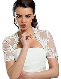 mgt-shop Shop Mujer Novia Bolero Bolero novia Chaqueta Cape novia estola AZ3