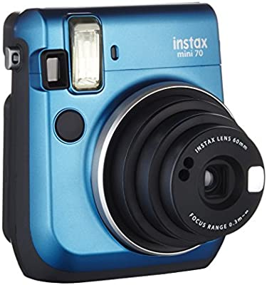Fujifilm Instax Mini 70 - Cámara analógica instantánea (ISO 800, 0.37x, 60 mm, 1:12.7, flash automático, modo autorretrato, exposición automática, temporizador, modo macro)