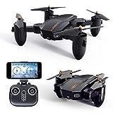 FQ777 FQ36 Drone Pliable, Drone avec Caméra Wifi Caméra Vidéo Live et GPS Retour à la maison