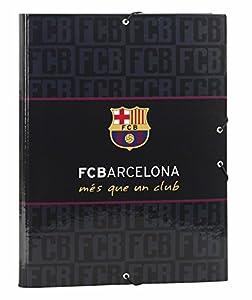 Futbol Club Barcelona- FC Barcelona Black Carpeta Folio Gomas con 3 Solapas (SAFTA 511725068)