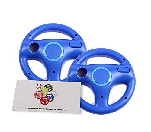 Wii U Wii Lenkrad Original Weiß für Rennspiele Mario Kart Racing Wheels blau 2 Pack Kinopio Blue (Wheel 8 Kart Racing Mario)