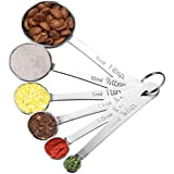 Measuring Spoons, Homitt 6PCS Multifunction Stainless Steel Cup Spoon Set With Precise Measurements For Cooking And Baking