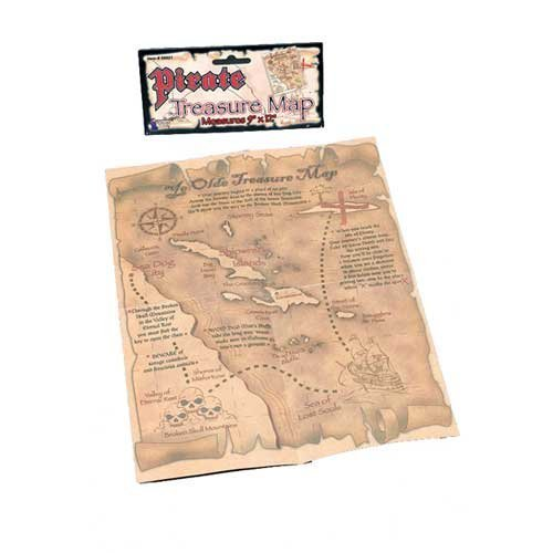 Fancy Dress Accessories | Pirate Treasure Map by Home & Leisure Online (Fancy Dress)
