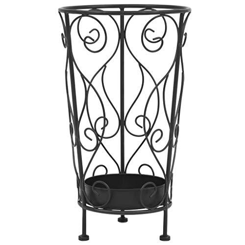 Vidaxl portaombrelli stile vintage metallo 26x46 cm nero accessori arredo casa