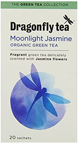 Dragonfly Tea Organic Moonlight Jasmine Green 20 Teabags (Pack of