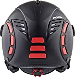 Alpina Erwachsene Jump 2.0 QVMM Skihelm, Black-red matt, 52-54 cm