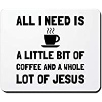 Coffee and Jesus - Non-Slip Rubber Mousepad, Gaming Mouse Pad 18 * 22cm