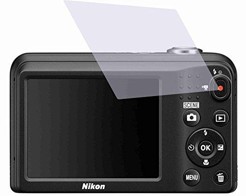 2 Stück GEHÄRTETE ANTIREFLEX Displayschutzfolie für Nikon Coolpix A100 Bildschirmschutzfolie Schutzhülle Displayschutz Displayfolie Folie