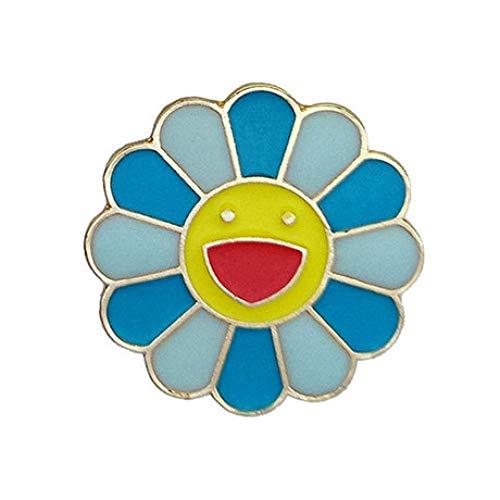 GFLD Broschen Japanische Murakami Takasaki Bunte Sonne Blume Tropfen Öl Brosche Schmuck Metall Smiley Corsage Abzeichen Fabrik