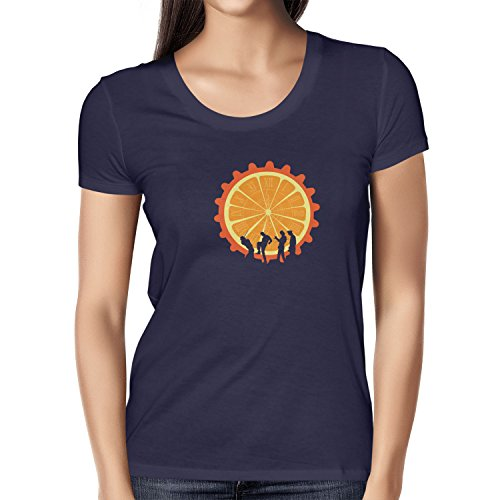 NERDO - The Orange - Damen T-Shirt, Größe S, navy