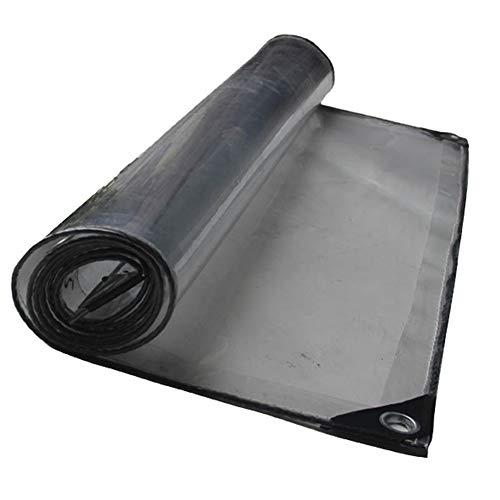 LIXIONG Bâche Épaissir Transparent Tissu Anti-pluie Anti-pluie À Transmission De Lumière Étanche À La Pluie De PVC, 18 Tailles (Couleur : Clair, taille : 3x4m)
