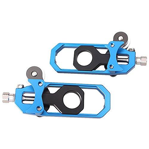 gzyf de chaîne de moto adulte réglable pour Aprilia RSV42010–2014adulte réglable en aluminium Bleu