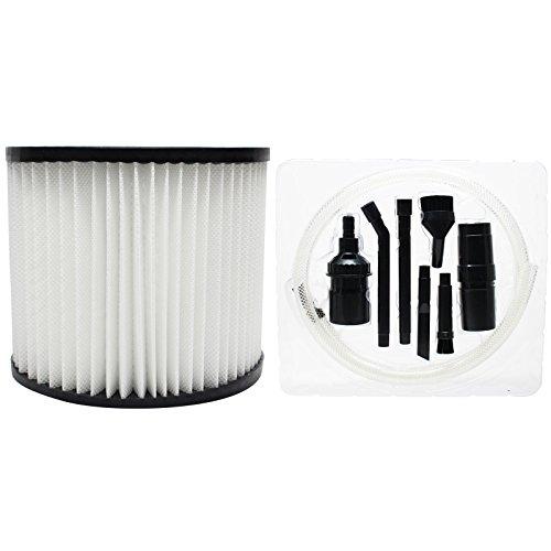 Ersatz VAC Wandhalterung 394-20-00Vakuum Cartridge Filter mit 7-teilig Micro Vakuum Befestigung-Kit-Kompatibel VAC 90398Cartridge Filter -