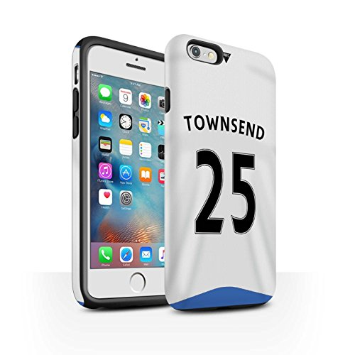 Offiziell Newcastle United FC Hülle / Matte Harten Stoßfest Case für Apple iPhone 6S+/Plus / Coloccini Muster / NUFC Trikot Home 15/16 Kollektion Townsend