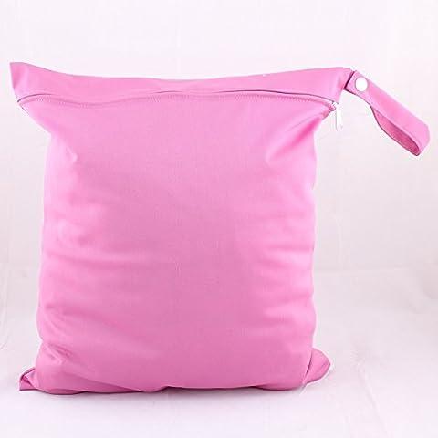 IBaste Cute lavabili per bambini, tessuto traspirante e impermeabile, doppia chiusura lampo riutilizzabile, per bambini, in tessuto, da bagnato e asciutto, il Sacchetto per borsa Tote & Bus Dimensioni: 36 x 28