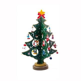 Toifucos Árbol de Navidad de Madera de Sobremesa con la Decoración de Adornos de Navidad en Miniatura de la Navidad Decorado Ornamento del jardín Verde