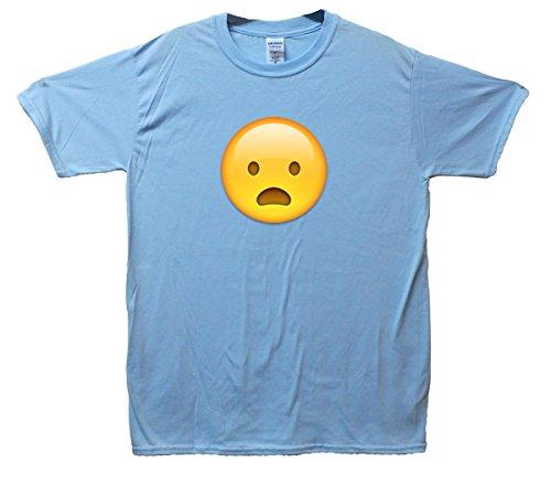 Yawning Face Emoji T-Shirt Hellblau