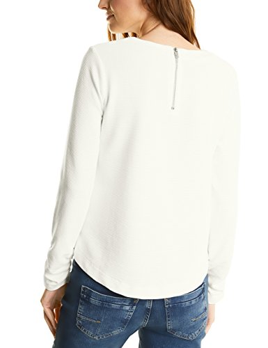 Street One Damen Langarmshirt Ltd QR Laira Weiß (Off White 10108)