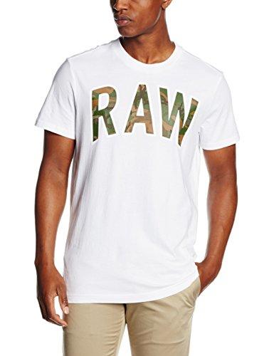 G-STAR RAW Herren T-Shirt Poskin R T S/S Weiß - Weiß