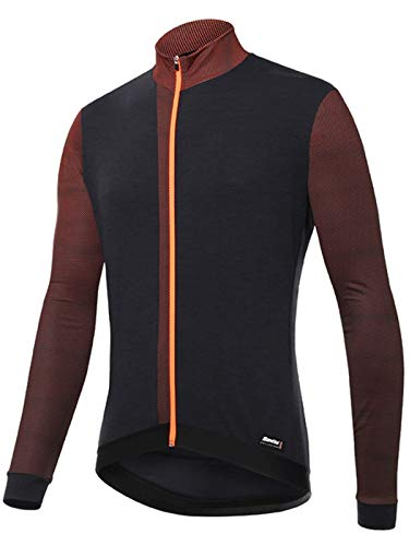 Santini Maillot De Cyclisme Manches Longues 2018 Fashion Origine Flashy Orange (S, Orange)