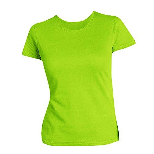 SOLS Damen T-Shirt, Kurzarm, Rundhalsausschnitt Limette