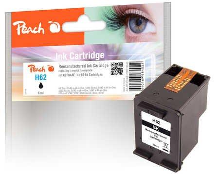 Peach Druckkopf schwarz kompatibel zu HP No. 62, C2P04AE (3 Schwarz 6-farb-tinte)