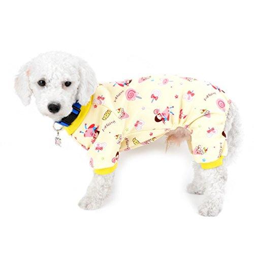 selmai Kleine Hunde Overall Fleece gefüttert Puppy Winter Schlafanzüge Innen Outfits Flanell Warm Lollipop Pet Hund Kätzchen Yorkie Chihuahua Kleidung Bekleidung Zubehör (Hund Outfits Großer Xmas)