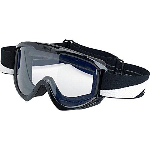 Motorrad Brille Goggle Objektiv-Biltwell Bolts transparent elastische Bandage Stil Café Racer Biker