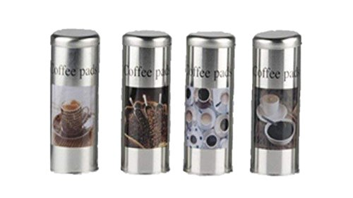 Kaffeepaddose Metall rund Höhe 18 cm Paddose Kaffeedose Dose