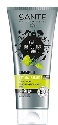 Seidenprotein-haar (SANTE Naturkosmetik Shampoo Natural Balance Linde, Für feines & empfindliches Haar, Neue Elastizität, 2x200ml Doppelpack)