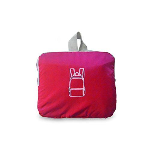 liveasy 20L Ultra Leicht reißfest und wasserdicht Handlich faltbar Nylon Rucksack ideal für Outdoor Reisen Wandern und Radfahren kirschrot