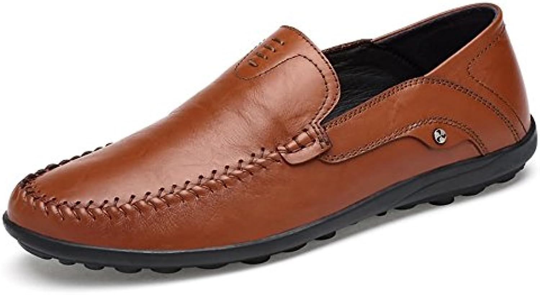 Yajie-scarpe, 2018 Mocassini da Uomo Mocassini da uomo in pelle stile hollywoodiano (Coloree   Light Marronee, Dimensione... | Design Accattivante  | Gentiluomo/Signora Scarpa