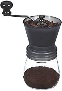 GROSCHE Bremen Adjustable Ceramic Conical Burr Manual Coffee Grinder (Black)