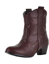Botones Martin tacón alto para mujer,Sonnena Zapatos de mujer de tacón alto Botas de cuero para mujer Fondo grueso Botas hasta el tobillo