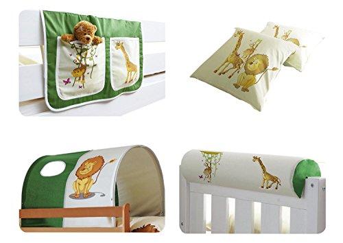 Ticaa Kinder Hochbett Zubehör Set 4-teilig (Bett-tasche-sets)