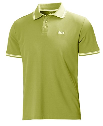 Helly Hansen Kos Ss Polo Graphite Blue BRIGHT CHARTREUSE