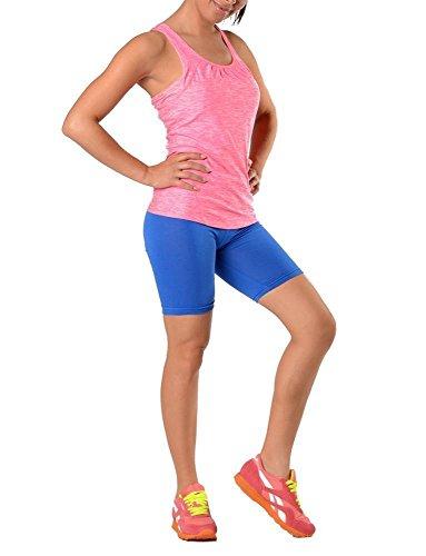 Leggings in 19 Farben Baumwolle, Lycra 1/2 Radlerhose Kurz, p930 Blau L/40