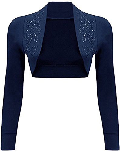 Islander Fashions -  Coprispalle  - Donna Long Sleeves Navy
