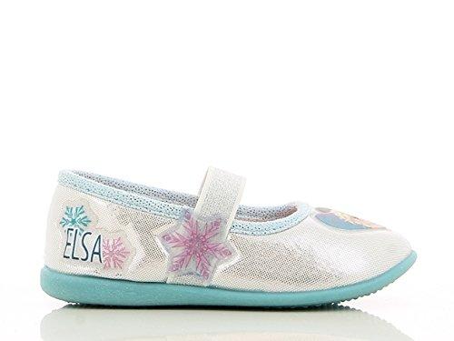 Die Eiskönigin Mädchen Girls Kids Houseshoes Ballerina Niedrige Hausschuhe, Silber (Silver), 28 EU
