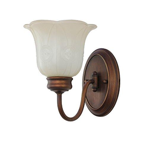 GYY Light Il retro vintage luci da parete in rame a parete di testa applique, (Lampada Da Parete Finita)