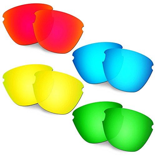 HKUCO Verstärken Ersatz-Brillengläser für Oakley Frogskins Lite Rot/Blau/24 Karat Gold/Grün Sonnenbrille