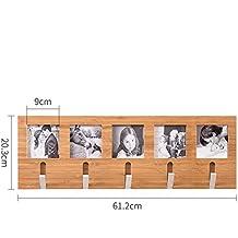 DD Perchero creativo pared de madera sólida perchero sala de estar porche ganchos ( Tamaño : 5 hooks )