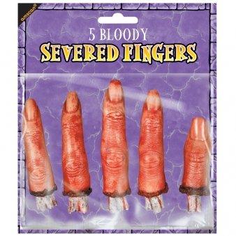 KULTFAKTOR GmbH Abgeschnittene Finger Halloween Deko-Set 5-teilig haut-rot 8cm Einheitsgröße