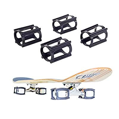 Skater Sneaker Multipack - 2 Sets - 8 Stück insgesamt (schwarz)